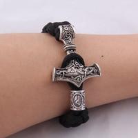 Dropshipping 1 pz martello mjolnir braccialetto vichingo scandinavo norse vichingo bracciale Uomini regalo
