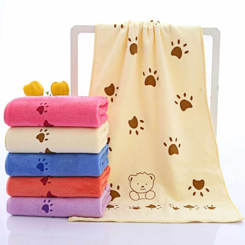 Baby Towel Cute Baby Cartoon Animal Heart Print Bath Towel Absorbent Drying Swimwear Baby Cotton Kids Towels