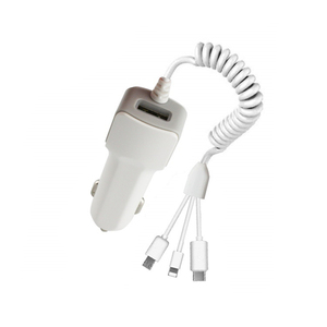 USB Mobile Phone Car Charger For IPhone X 7 XS Max Car-Charger Micro USB Type C Charge For Samsung Xiaomi Huawei 3 In 1