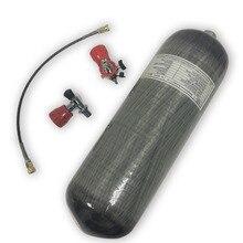 AC10910191 9L 4500Psi Pcp Rifle de Ar Comprimido/M18 * 1.5 Cilindro de Paintball/Tanque/Acessórios + Válvula de Segurança + Estação de enchimento + Proteger Copo