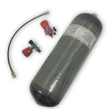 Ac10910191 pcp 라이플 9l 4500psi 압축 공기/페인트 볼 m18 * 1.5 실린더/탱크/액세서리 + 안전 밸브 + 필 스테이션 + 보호 컵