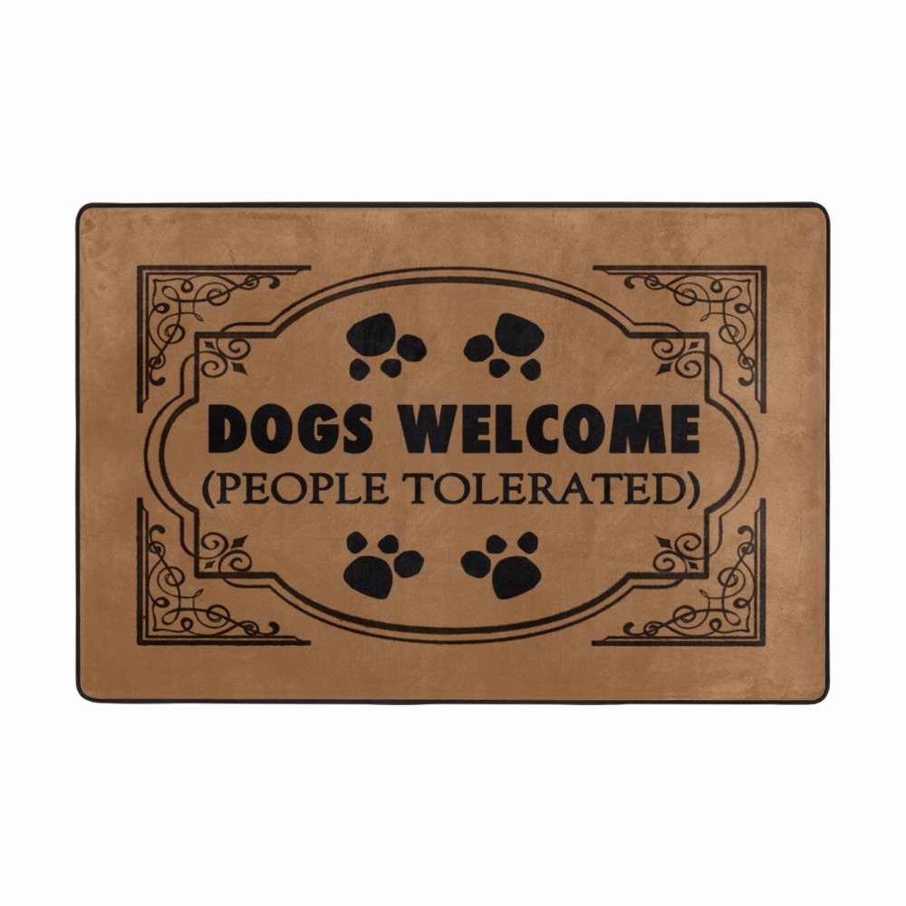 Funny Entrance Welcome Doormat DOGS WELCOME Floor Mat Kitchen Rugs Bedroom Carpets Decorative Stair Felpudo 36*24inch