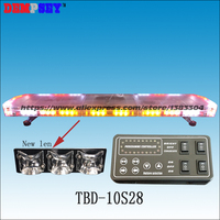 TBD 10S28 LED Emergency Warning Lightbar,New Len,fire truck car,DC12/24V Roof strobe Red/amber/white warning lightbar