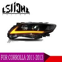 LSlight для Toyota Corolla 2011 2012 светодио дный 2013 светодиодные фары в сборе лампы стоп Стоп сигнал поворота DRL низкая дальнего света объектив