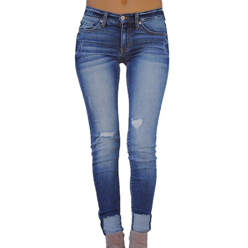 Women With High Pencil Waist Women's Pants Winter Stretch Basic Skinny Jeans Woman Plus Size Denim Pants Femme Cotton #0225