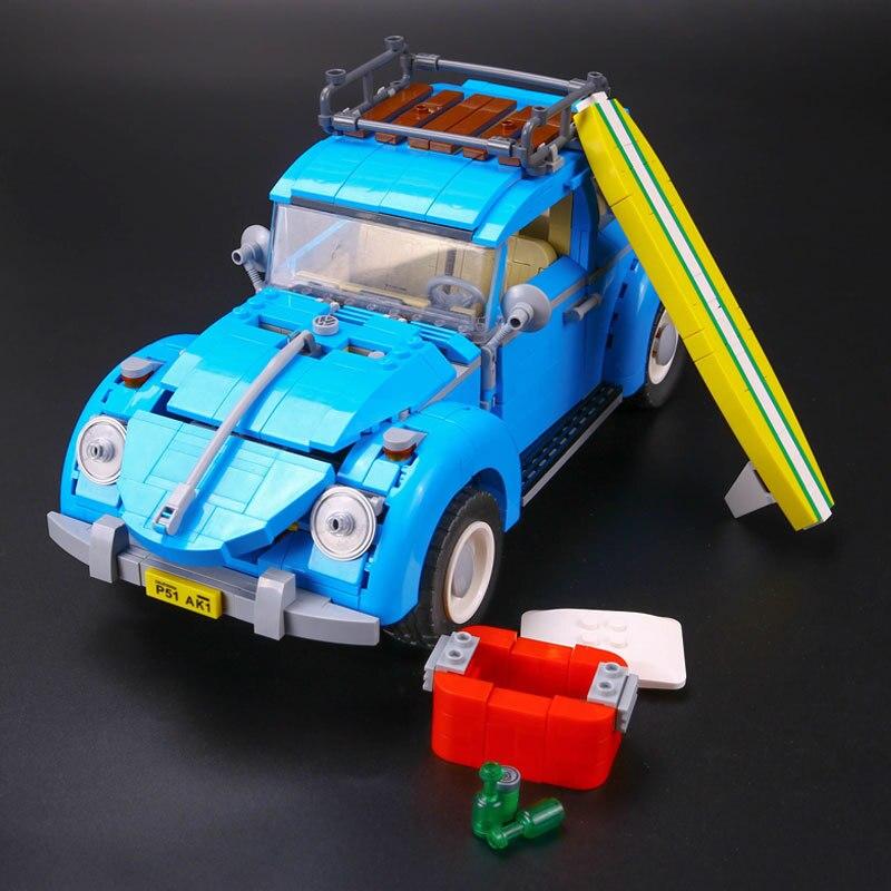 drop shipping 1193Pcs Creator Volkswagen beetle Model Building Bricks Block Set Toy Gift Compatible With bricks lepin 21007 creator horizon train series the horizon express model building block 1351pcs bricks compatible with lepind 10233