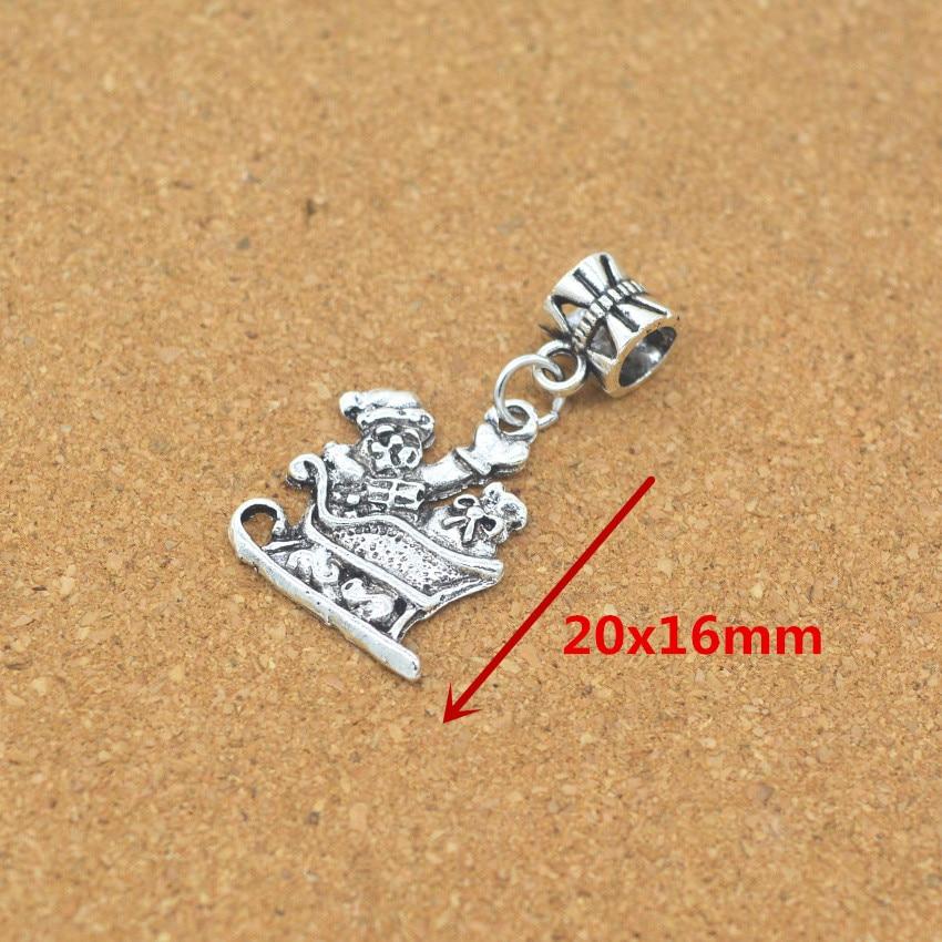 Industrious Wholesale 20pcs Old Man Charm Tibetan Silver Bead Charm Big Hole Pendant Fit European Jewelry Charm Bracelet Diy Pendant Py518 Superior Performance Beads