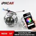 Envío libre iphcar car styling colorful faros led angel eyes RGB Que Cambia de Color por Teléfono Móvil H1 HL 3.0 Proyector lente