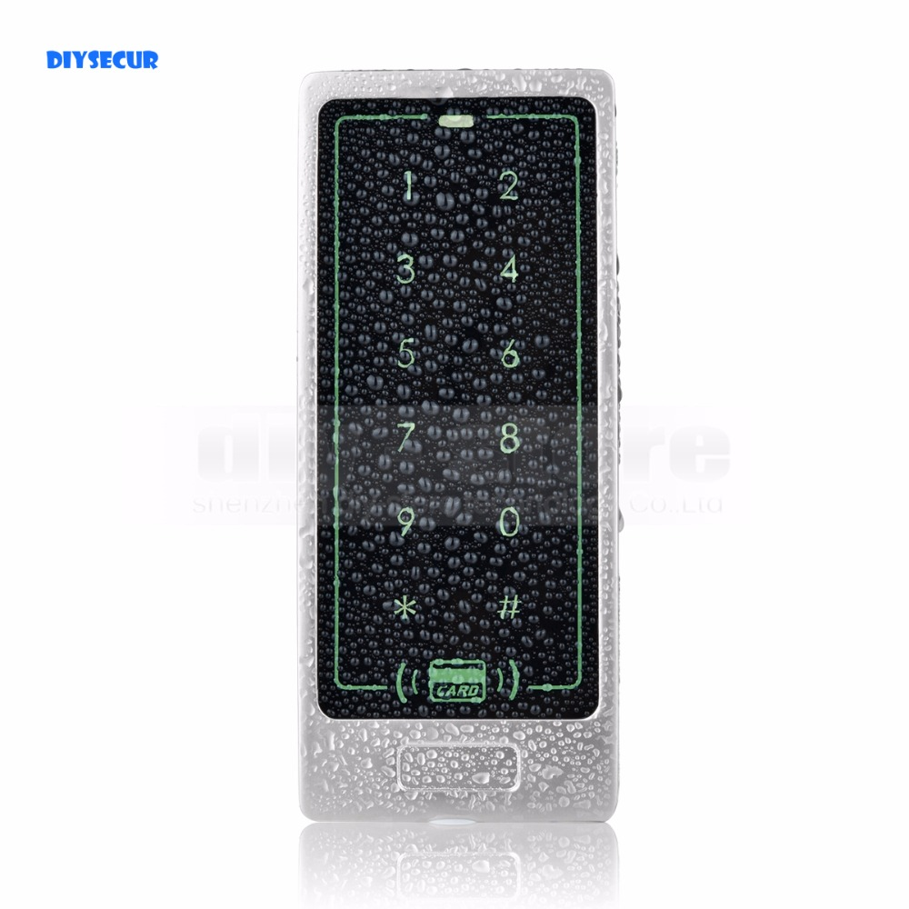 DIYSECUR Waterproof 8000 User Touch Button Door Access Controller 125KHz RFID Card Reader Metal Case Password Security Keypad