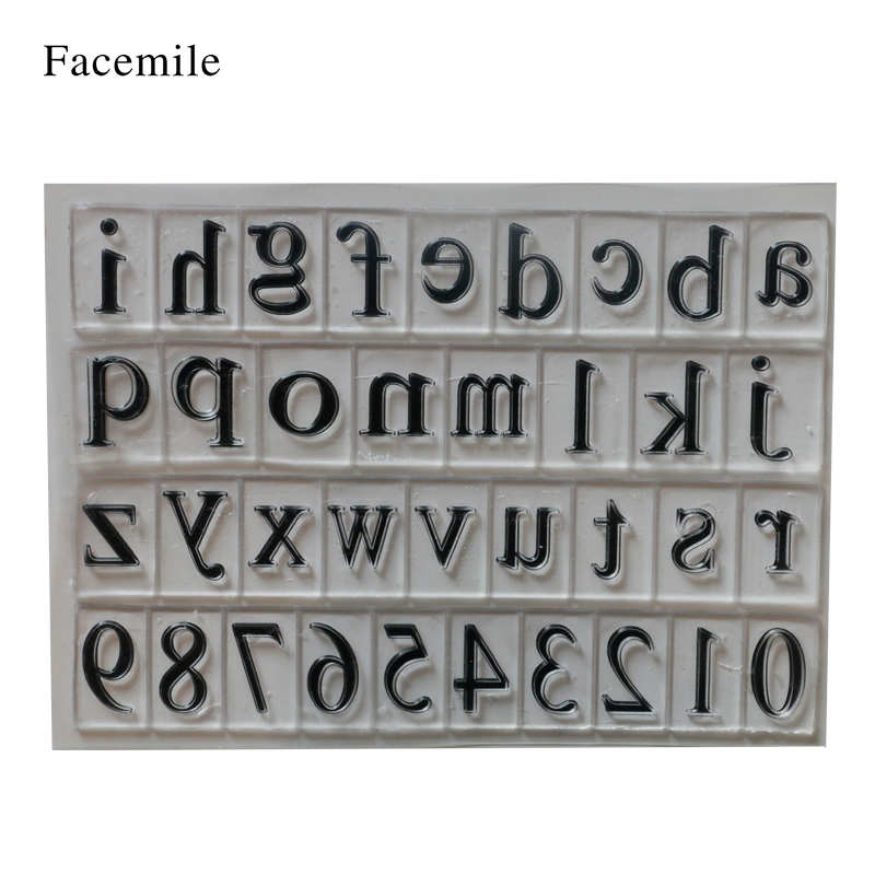 Facemile New Scrapbook DIY Photo Album Account Transparent Silicone Rubber Clear Stamps Letters And Numbers