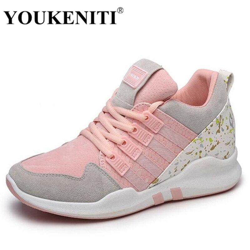 YOUKENITI נעלי נעלי נשים חיצוני ורוד תחרה נושם רך דעיכת התנגשות אנטי זמש שטוחות נשים נעלי בד