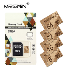 Wooden design Memory Card Micro SD 32GB 64GB 128GB Class 10 Micro SD Card 8GB 16GB Microsd Cartao de Memoria Tarjeta SD TF Card