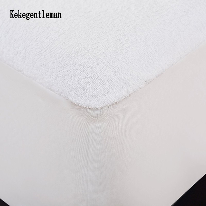 Russian 160*200cm Terry TPU Waterproof Mattress Protector Cover With Elastic Band Breathable Baby Pet  Pregnant Sheet