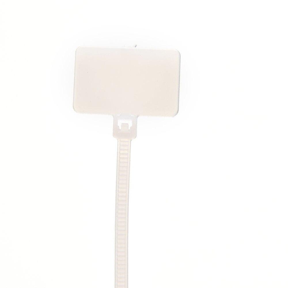 100 Stück Weiß Zip Ties Schreiben Draht Kabelnetzkabel Etiketten ...