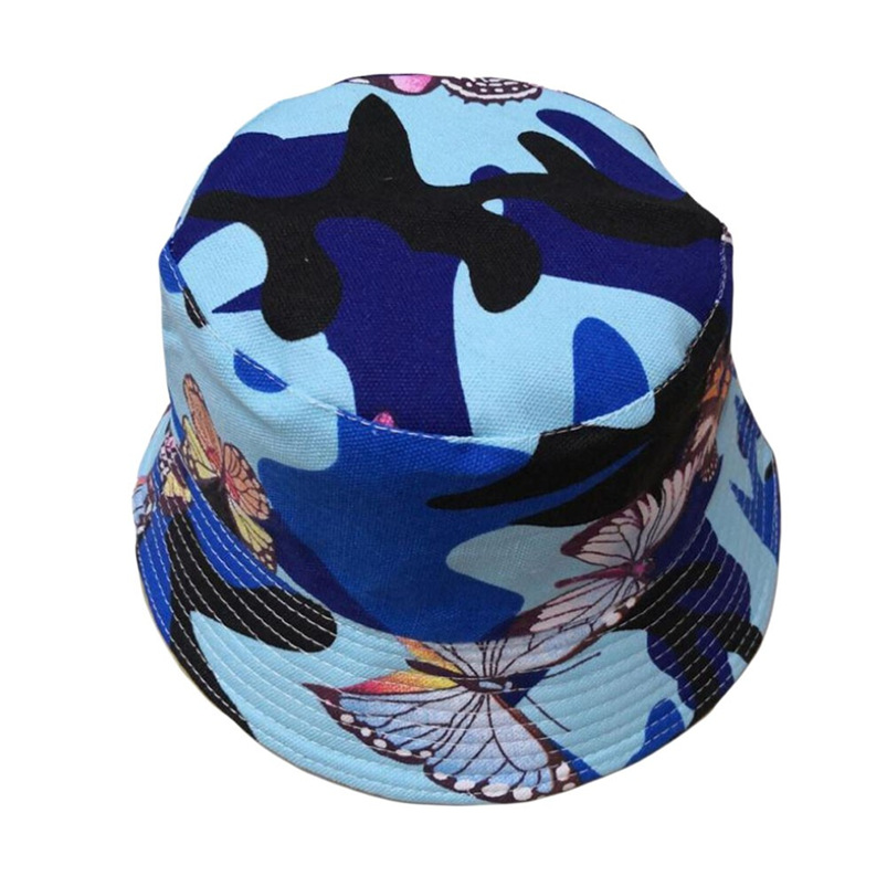 Men Women Bucket Hat Flower Print Cap 2018 Summer Hot Sale Flat Hat Fishing Boonie Bush Cap Outdoor Sunhat Wholesale #FM11 (4)