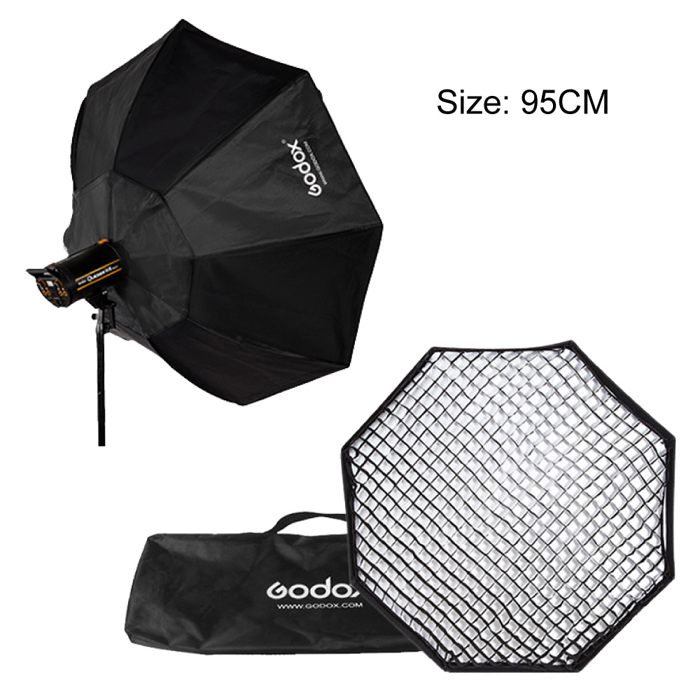 Godox 37 95cm Grid Honeycomb Octagon Softbox with Bowens Mount Speedring