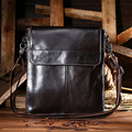 Men Single Shoulder Bags 2016 Brand Designer 100% Genuine Leather Solid First Layer Cowhide Top-handle Vintage Crossbody Bag