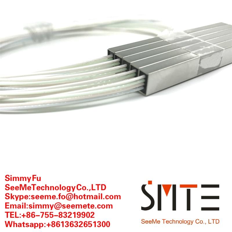 5pcs lot 1 to 4 mini fiber optic PLC splitter 0 9m micro steel tube 1x4