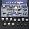 80 Pcs 14 Estilos USB Macho Fêmea Mini SMD Vertical Soquete Conector Para DIY Frete Grátis