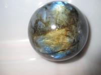 426g NATURAL Labradorite quartz crystal sphere ball healing