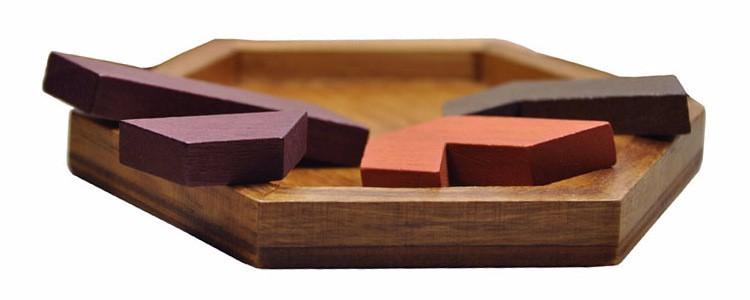 Kids Puzzles Wooden Toys Tangram/Jigsaw Board Wood Geometric Shape P Children Educational Toys 15
