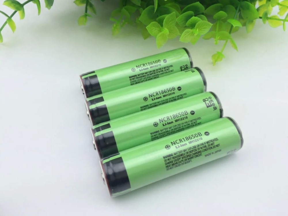 4 PCS/lot New Protected Original Rechargeable battery 18650 NCR18650B 3400mah with PCB 3.7V For Panasonic Flashlight batteries