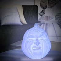 2018 Creative Gifts 3D Print Lamp Rechargeable Pumpkin Face Lamp 7 Color Touch Switch Change 3D Light Lamp Bedroom Night Lights
