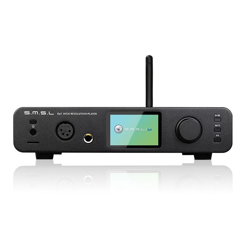 SMSL DP3 Hi Res Digital Player ES9018Q2C DAC 32Bit 384Khz DSD 256 two way Bluetooth WIFI