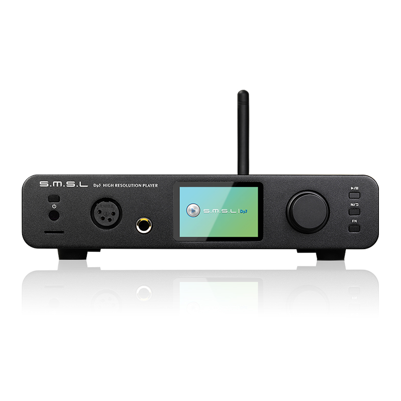 DP3 SMSL DAC Oi-Resolução Digital Player ES9018Q2C 32Bit/384 Khz DSD 256 two-way Bluetooth/ WIFI/DLAN entrada USB/Coaxial/AES/saída RCA