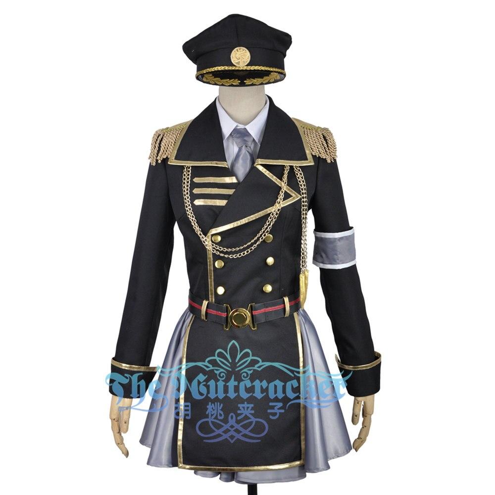 K Anime retour des rois Neko uniforme militaire pour adulte Cosplay Costume femme robe jupe Halloween vêtements tenue pour adulte