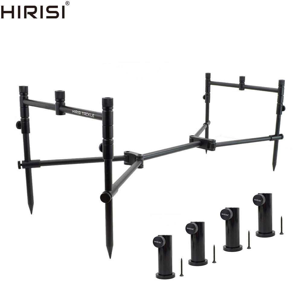 Carp Fishing Rod Pod Set For 3 Rods With 4pcs Fishing Stand Stage