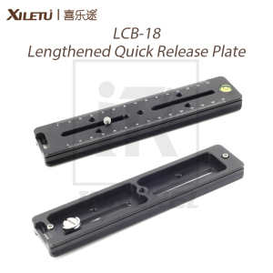 Image 1 - XILETU LCB 18 Lengthened Quick Release Plate 180mm Nodal Slide Rail Long Multifunctional Universal Tripod Head Clamp Extender