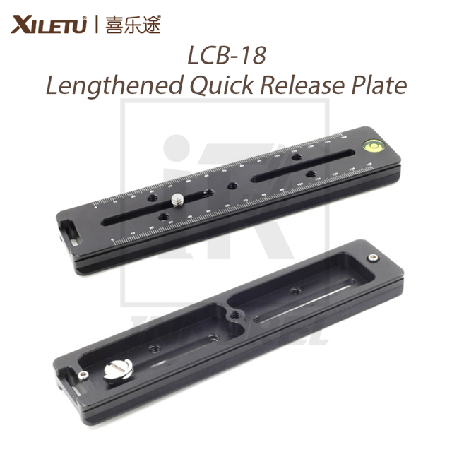 XILETU LCB 18 Verlängert Quick Release Platte 180mm Nodal Rutsche Schiene Lange Multifunktionale Universal Stativ Kopf Clamp Extender