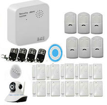 Inalámbrica WIFI + GSM Sistema de Alarma de Ladrón de la Seguridad Casera DIY Kit de IOS/Android APP Control con Marcación Automática Y Cámara IP inalámbrica