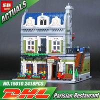 2017 NEW Lepin 15010 Expert City Street Parisian Restaurant Model Building Kits Blocks Funny Children Toys