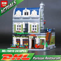 2017 NEW Lepin 15010 Expert City Street Parisian Restaurant Model Building Kits Blocks Funny Children Toys