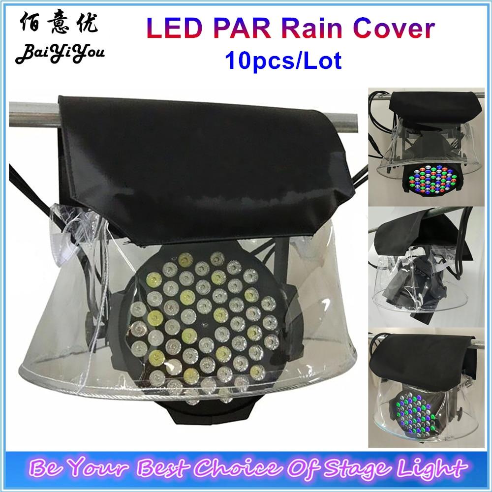 10pcs Lot LED PAR Rain Cover Stage Light Rain Snow Coat Waterproof Covers With Transparent Crystal