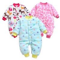 Bébé barboteuses à manches longues combinaison Bebe infantile vêtements épais chaud automne hiver nouveau-né vêtements Onesie filles tenues combinaisons