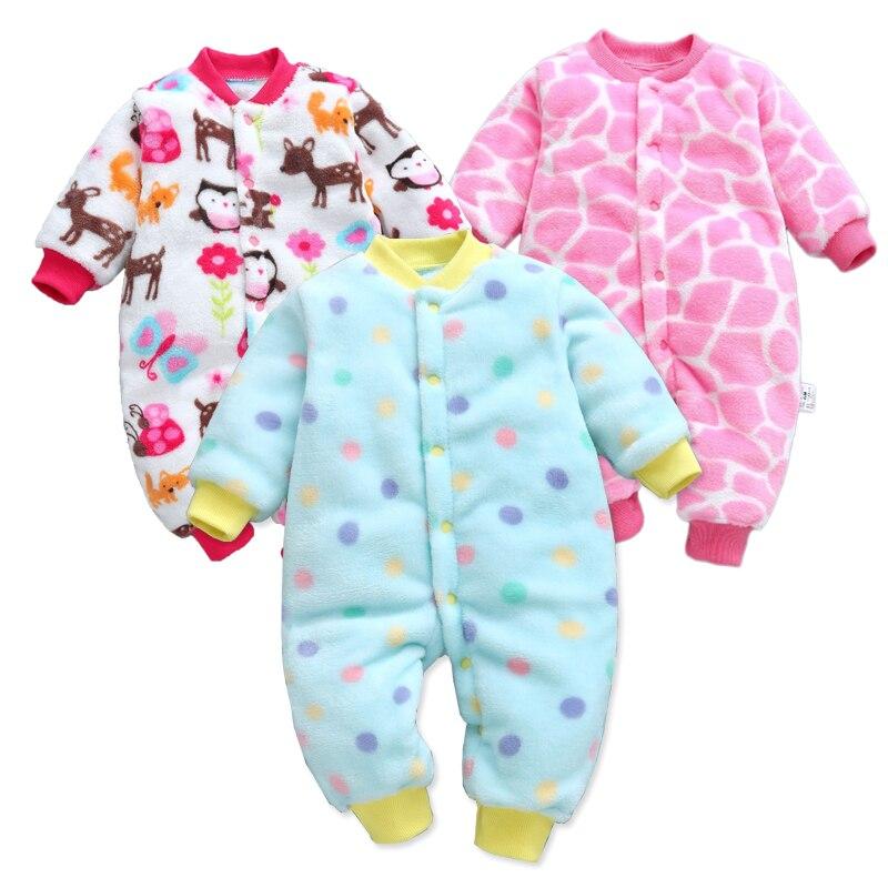 3447f22b9 Cheap Mamelucos de manga larga mono Bebe ropa infantil gruesa cálida Otoño  Invierno ropa para recién