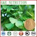 100% Natural e Puro Ginkgo/Gingko/Extrato de Folha de Gingko biloba com frete grátis, 100 g/saco