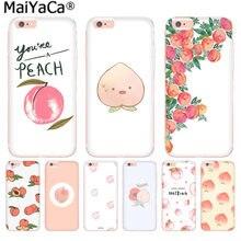 6de6591d968 MaiYaCa fruta Rosa melocotón lujo moda teléfono funda para iPhone 8 7 6 6 s  Plus X 10 5 5S SE XS XR XS MAX Coque Shell