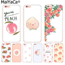 MaiYaCa Fruit pink peach Luxury Fashion Phone Case for iphone 11 pro 8 7 66S Plus X 10 5S SE XS XR XS MAX Coque Shell(China)
