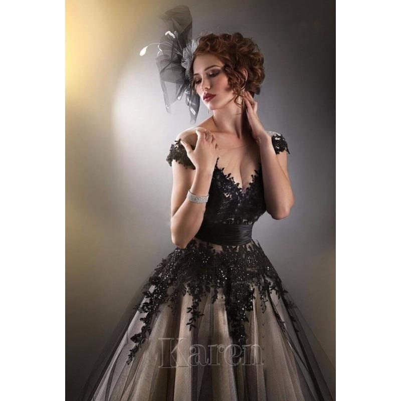 Vestido novia encaje negro