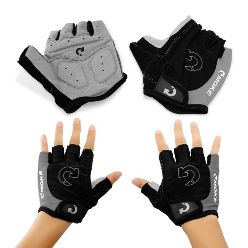New Outdoor Cycling Half Finger Glove 3 Colors Riding Sports Anti Slip Gel Pad Motorcycle Road Bike Gloves Bicycle Gloves S-XL