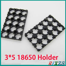 2PCS/alot 3*5 18650 Battery Holder Bracket Cylindrical Battery Holder 15pcs18650 Holder Safety Anti Vibration Plastic Case Box(China)