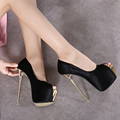 New Women Shoes Sexy Platform Fashion 16CM High Heels Party Black Dress   Brand Designer Shoes Women Pumps 3colors size35-40
