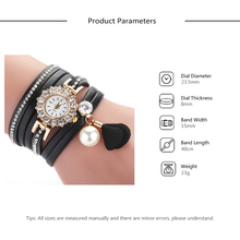 Band 2019 PU Quartz Bangle Gift Bracelet Watch Luxury Fashion Feminino Analog