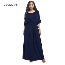 12d2a8595b13a 2017 New Long Summer Solid Women Sexy Fashion Casual And Loose Dress Plus  Size Maxi Zomer