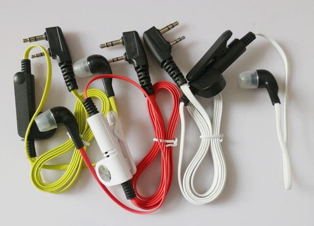 10pc 2 Pin In-Ear Earphone Earpiece Headset Clip For Kenwood Two-way Radios TK-2100 TK-2101 TK-2102 TK-2107 TK-2118 TK-2160