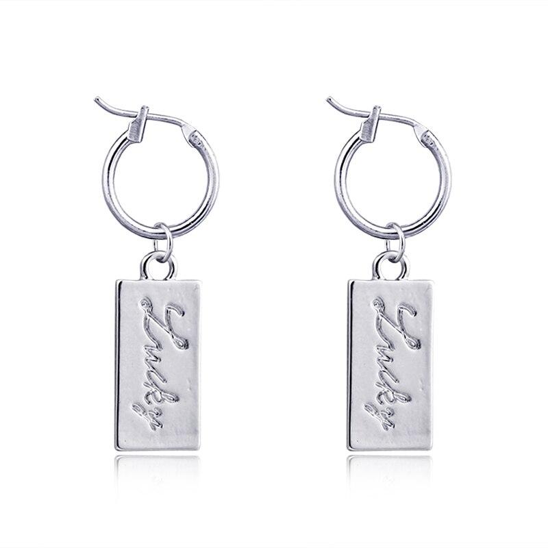 1 Paar Europäischen Einfache Exquisite Hund Tag Skulptur Glück Hoop Ohrringe Silber Farbe Nette Hell Ohrringe Für Frauen Jewelrye163